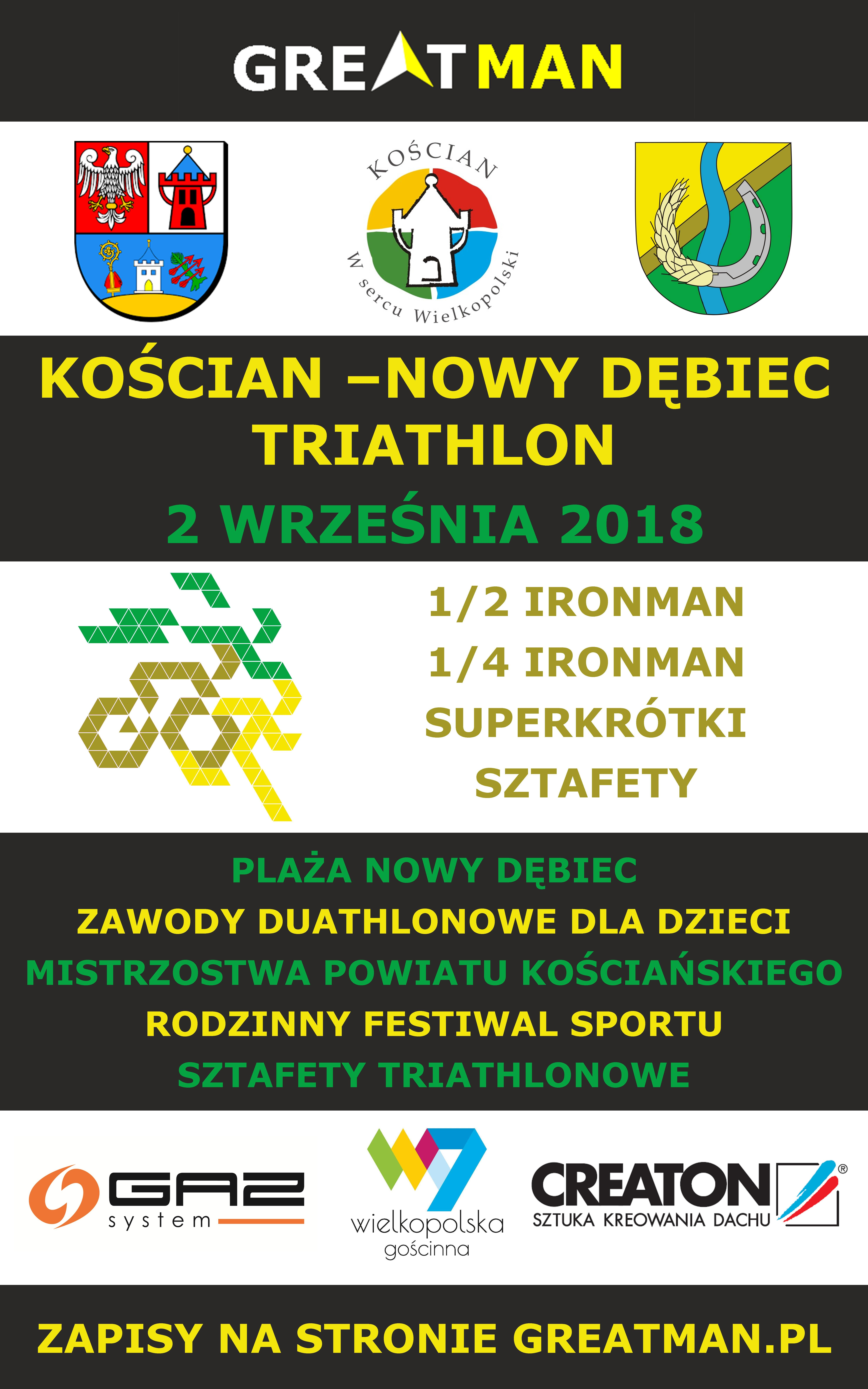 koscian nowy debiec triathlon 2018 plakat