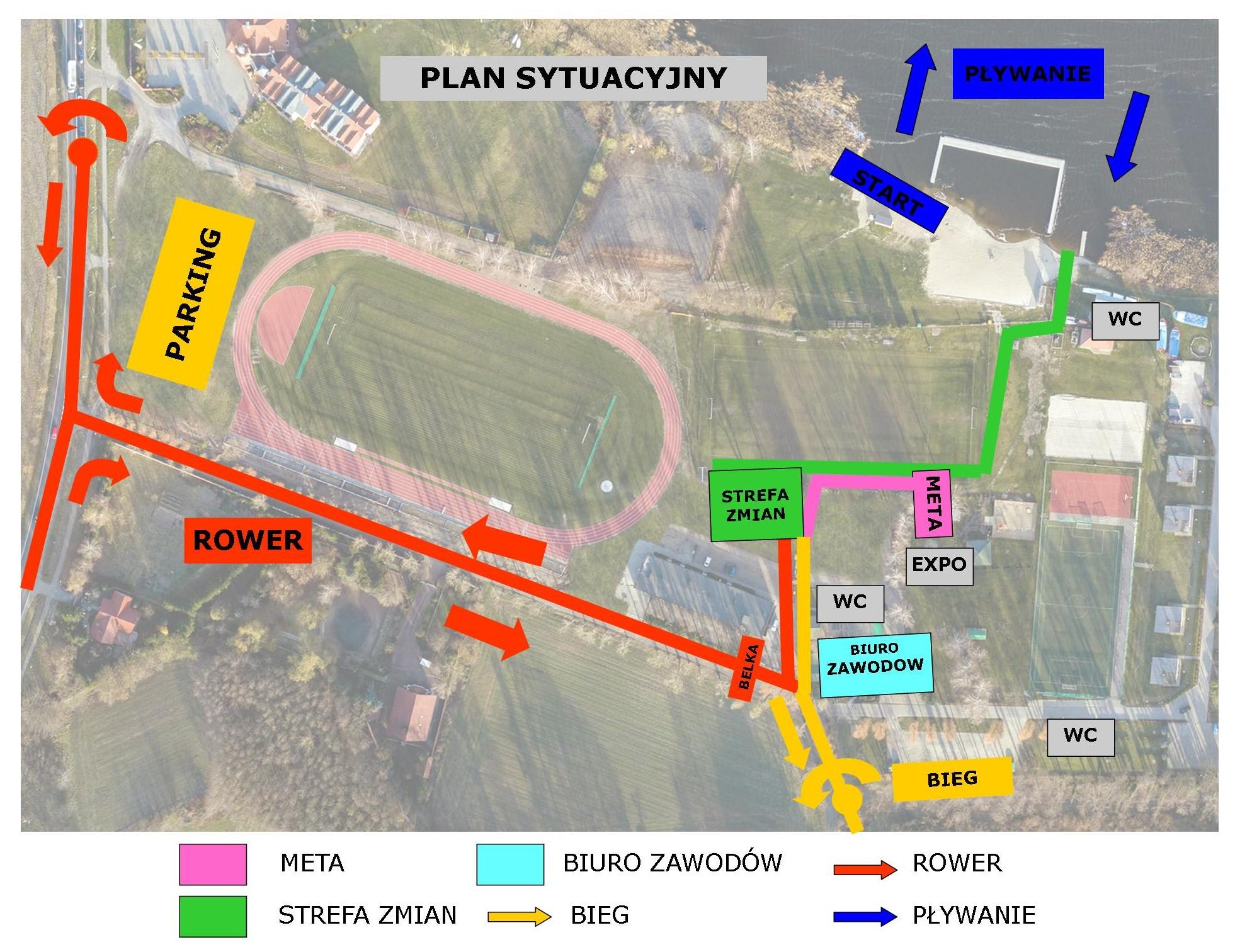 Plan sytuacyjny Oaza Błonie Kórnik 2020